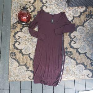 Express Ribbed Sweater mini dress striped L